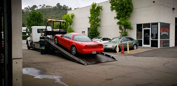 My NSX arrives at Niguel Motors (Photo by Ramon)
