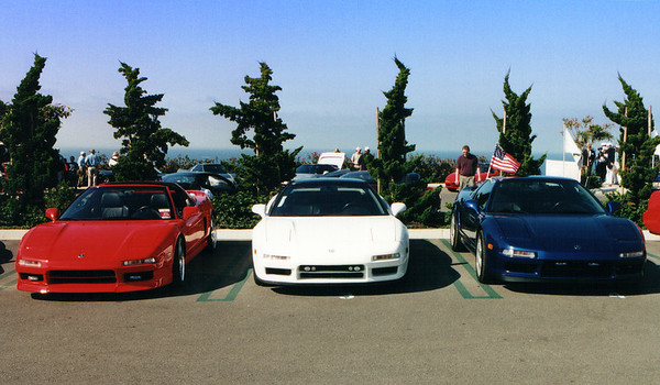 The owners of a red, white, and blue NSX decide to display their cars side-by-side in a proud display of patriotic spirit just days after terrorists attacked our country
