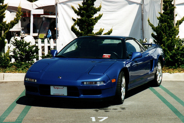Pete displays his ultra-rare Monaco Blue 2000 NSX Coupe.  Despite being the better performing and handling model (not to mention more affordable), very few coupes came Stateside after the NSX-T was introduced in 1995.  And blue NSX-Ts are nearly as rare.  Before this coupe, Pete owned a Midnight Blue Pearl 1996 NSX-T...I guess he likes to own unique colors.