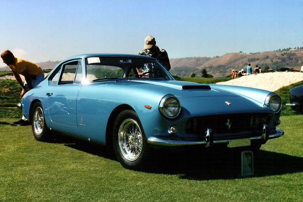 This 1961 Ferrari 250 GTF took first place in the Ferrari Thru 1969 category.  This blue seems kind of odd for a Ferrari, don't you think?