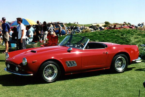 A classic red 1963 Ferrari 250 GT Spyder