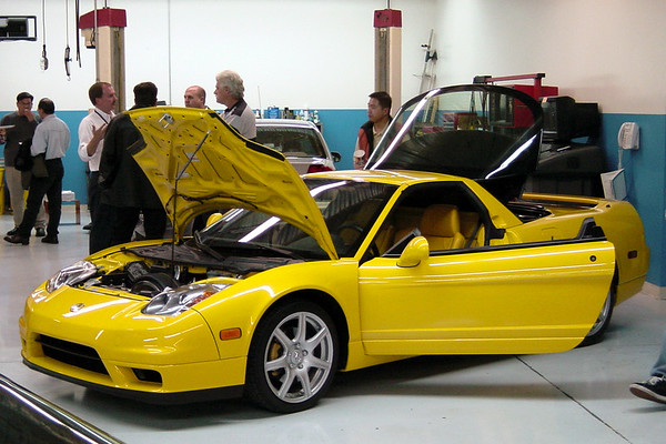 This 2002 Spa Yellow Pearl NSX has been opened up so we can inspect...