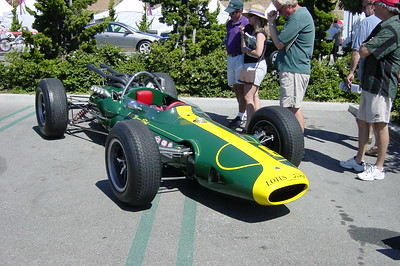 Seeing old race cars like this Ford powered Lotus definitely made this year's show worth attending (Photo by Valerie)
