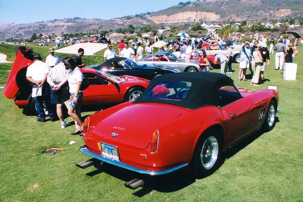 Ferraris from behind