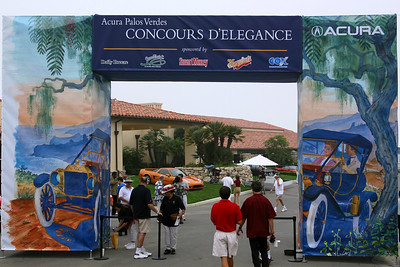We arrive at our third Acura sponsored Concours d'Elegance