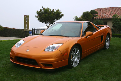 This Imola Orange 2002+ model is parked on the grass to represent NSX's in its current form