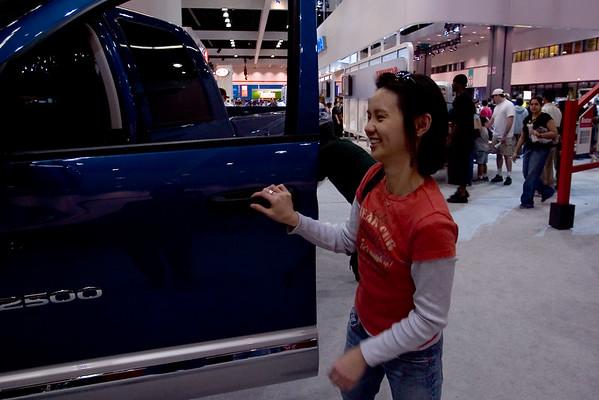 Dodge Ram 2500 Quad Cab dwarfs Valerie