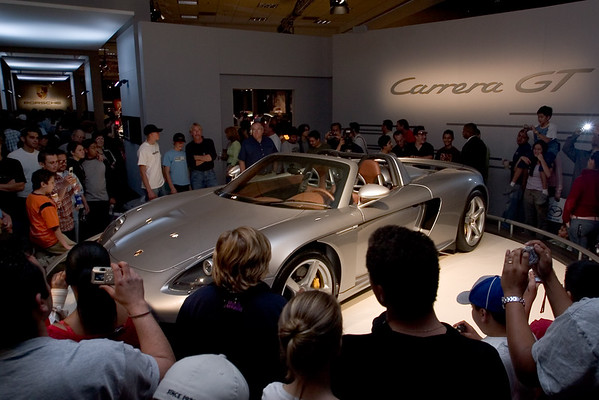 First thing we want to see is the Porsche Carrera GT
