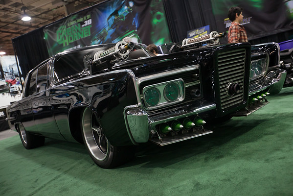 Vehicles from the upcoming Green Hornet movie
