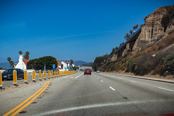 Approaching the California Incline...which was recently renovated with seismic reinforcements