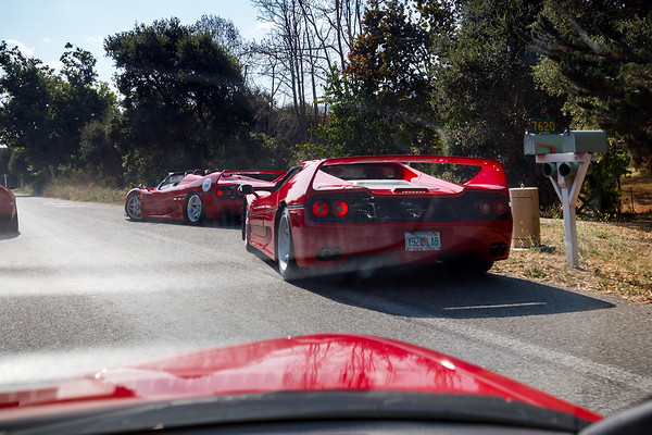 OMG, F50s actually exist (this may be my first time seeing them in person) and we're passing them!