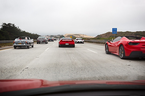 We come across a new NSX who is rolling with a Ferrari 488