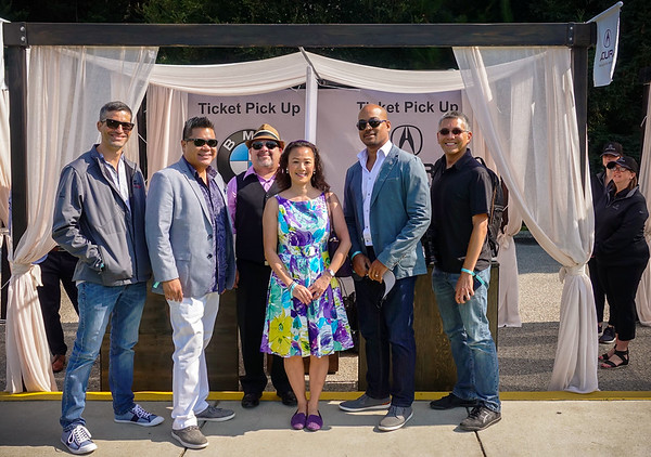 I jump into the shot wtih Chris, James, Roger, May, and Jhae before we catch the shuttle to The Quail: A Motorsports Gathering 2017