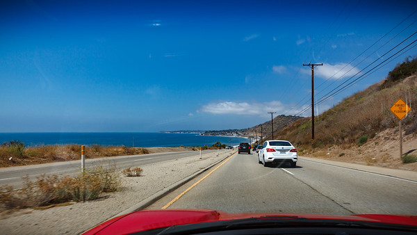 Heading towards Malibu on PCH