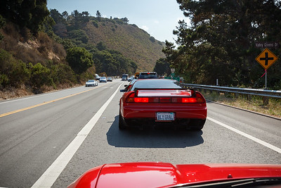 That white NSX is going in the wrong direction