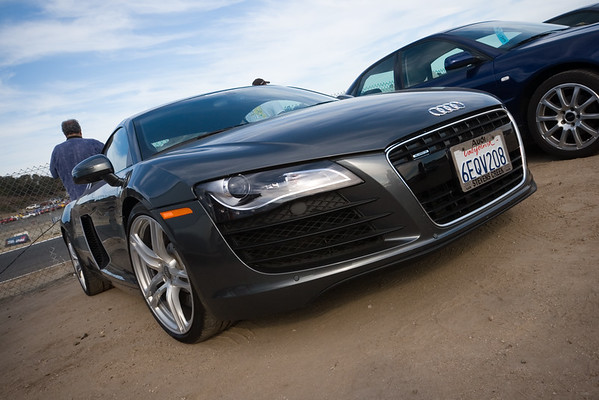 Valerie finally gets to see an Audi R8 in person...I think she likes it as much as I do