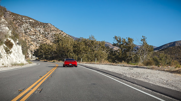 First stretch involves Angeles Crest Highway and Angeles Forest Highway...and the weather is perfect
