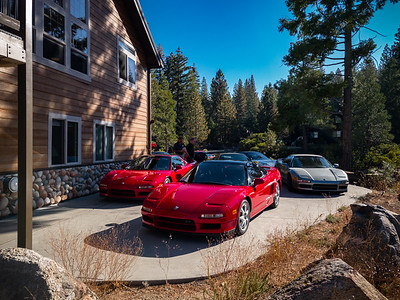 NSXs fill the driveway of our cabin