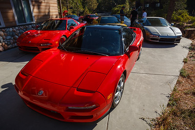 Even closer wide angle shot of the NSX-filled driveway