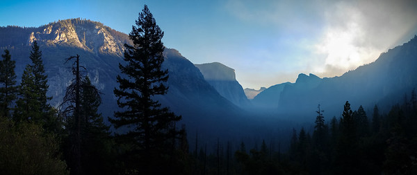 Sunrise at Yosemite Smartphone Panorama