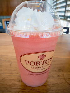 I am totally addicted to Porto's Guava Smoothies...I must get one every time I come here.  Along those lines, I also enjoyed a potato ball (not pictured).