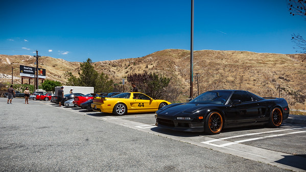 From right to left: LaMar's black NSX (Black Racer X), Mario's evolving yellow NSX race car (mcano)...wait, it's time to roll?