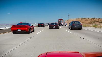 Hitting traffic as we near Barstow