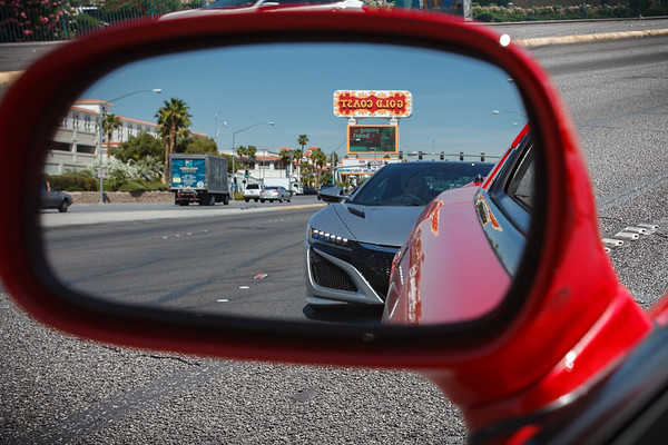First time I've had the new NSX in my rear view mirror