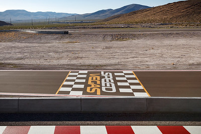 View of the start-finish line from the observation deck