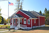 SH21.0 Larsmont Little Red Schoolhouse.  Note the 20/20 Art Tour sign.  Helen is one of the artists.  She is inside working on a clay sculpture and displaying her watercolor paintings.