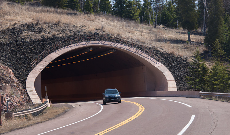 West entrance to the Lafayette Tunnel.