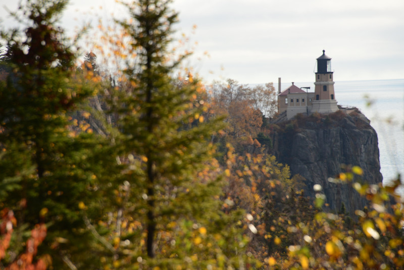 MP45.1 Split Rock Lighthouse Overlook: the lighthouse—the most photographed lighthouse of the Great Lakes—was built in 1910 in response to the loss of ships, cargo, and seamen in the great nor'eastener of 1905.