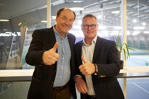 Tournament director Sverre Lie og President NTF Gisle Jentoft