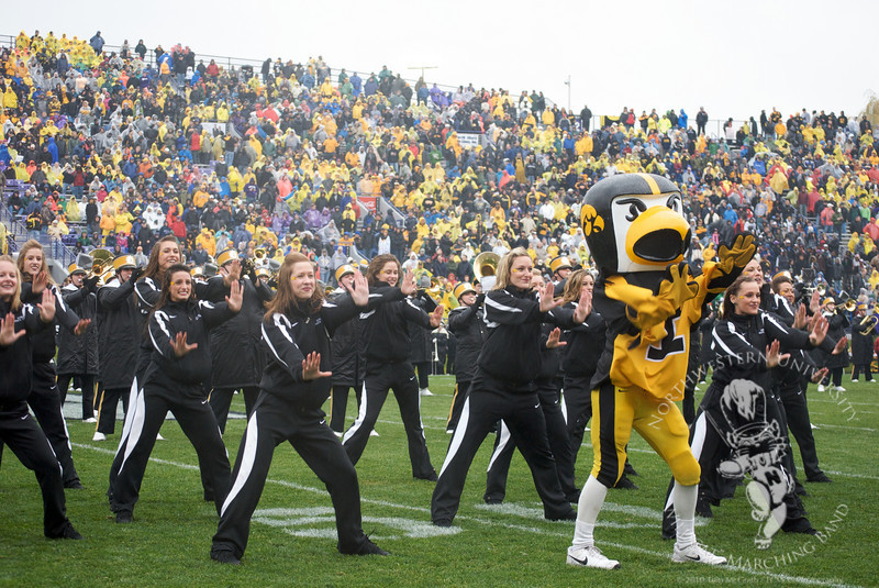 So, Herky doing the Poker Face dance (Bad Romance Dance?) was a highlight