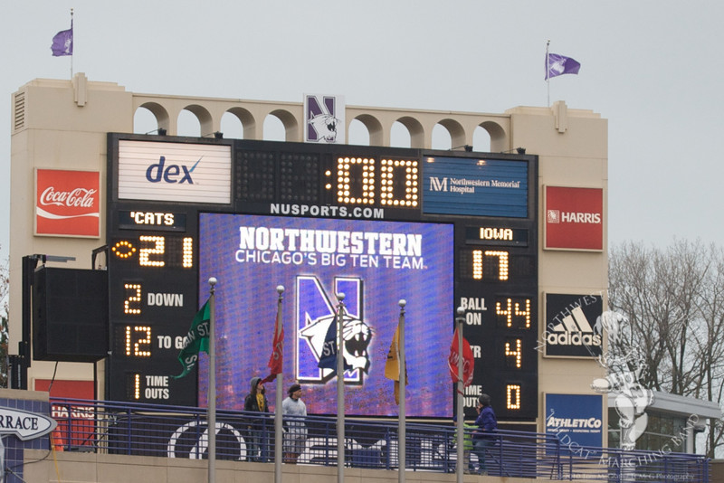 Your final score in Evanston.