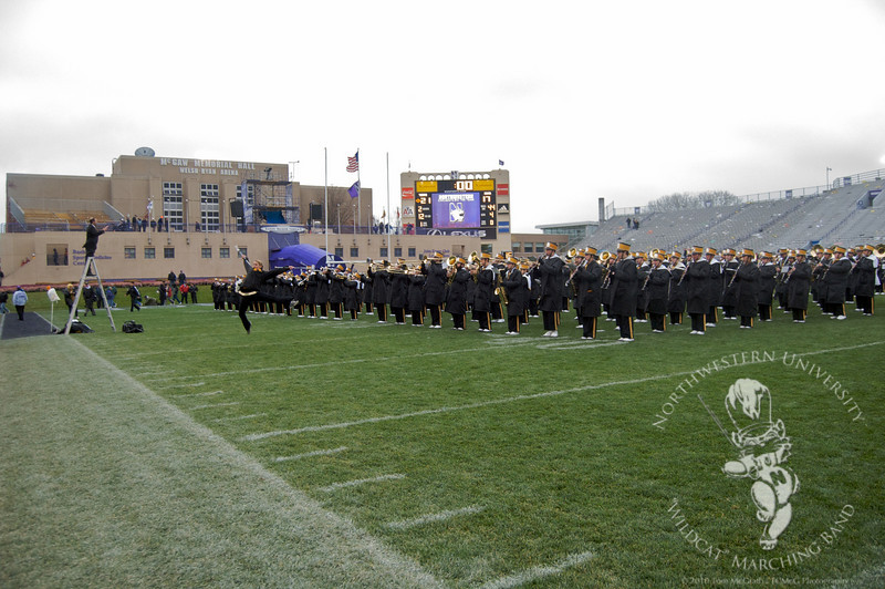 The Hawkeye Marching Band, postgame.