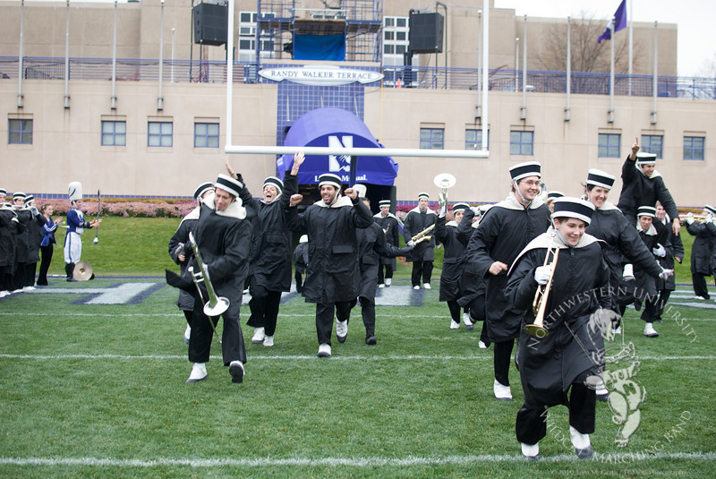 "Your Northwestern University ""Wildcat"" Marching Band Seniors."