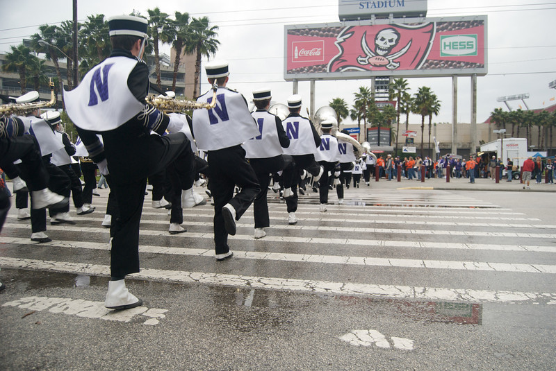 NUMB marches to the Outback Bowl<br /> <br /> Photo by Tom McGrath