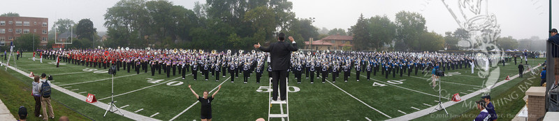 Over 1500 Chicagoland marching band members participated in Northwestern University's High School Band Day, 9/12/2009.
