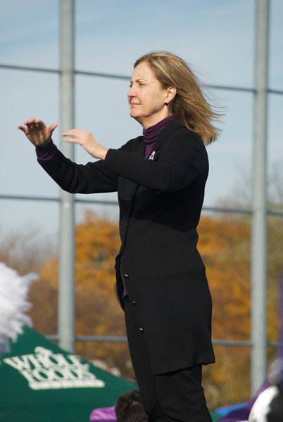 Dr. Thompson directs NUMB at Wildcat Alley prior to a 2010 football game.