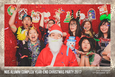NUS Alumni Complex Year-end Christmas Party 2017 | © www.SRSLYPhotobooth.sg