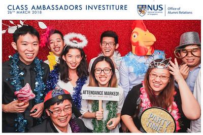 NUS Class Ambassadors Investiture 2018   © www.SRSLYPhotobooth.sg