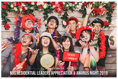 NUS Residential Leaders Appreciation & Awards Night 2019 | © www.SRSLYPhotobooth.sg
