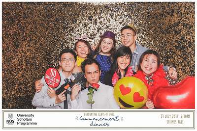 NUS USP Commencement Dinner 2017 | © www.SRSLYPhotobooth.sg