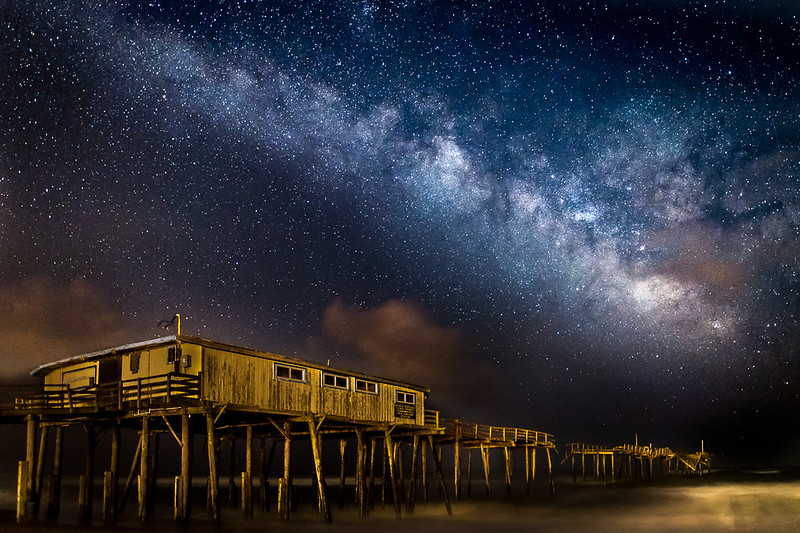 Milky Way And Frisco Pier Outer Banks