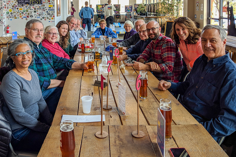 Lunch at the Mustang Sally Brewery after the Field-Trip (photo by Mike Whalen)