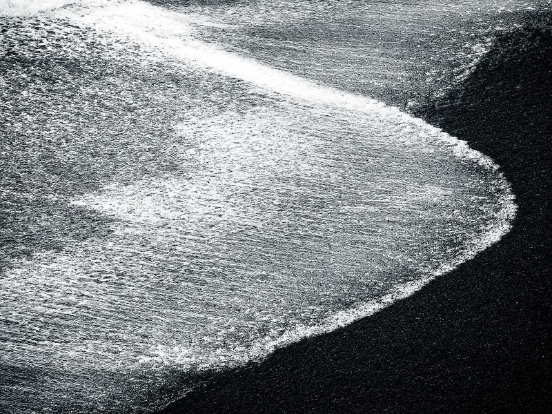 Striation onBlack Sand