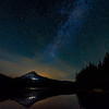 A Starry Night At Trillium Lake Oregon