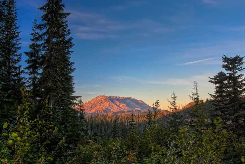 Mt St Helens from Bear Medows.