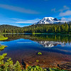 Aptly Named Reflection Lake and Mt Rainier. Easy Squezzy Park and Lookie